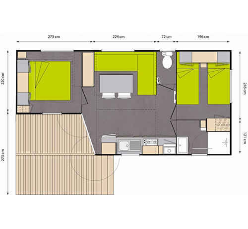 Location mobil-home Confort